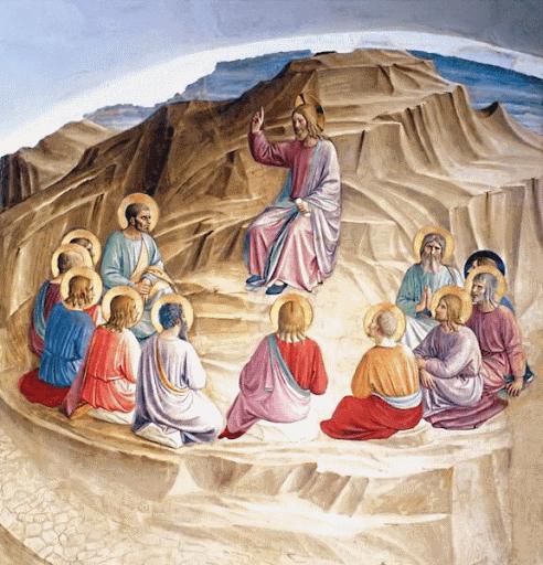 Jésus enseigne les apôtres